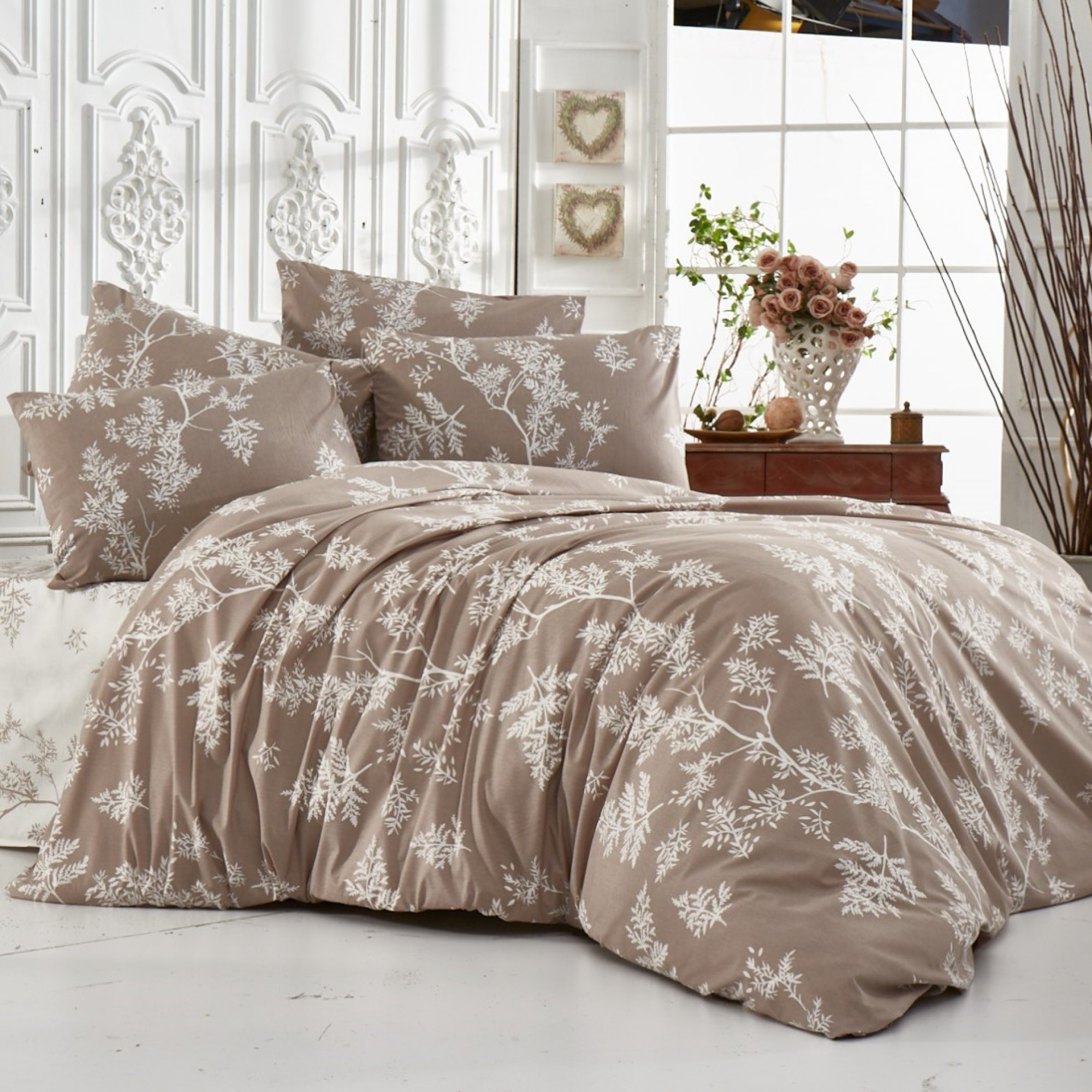 Beige Style спално бельо от Ранфорс