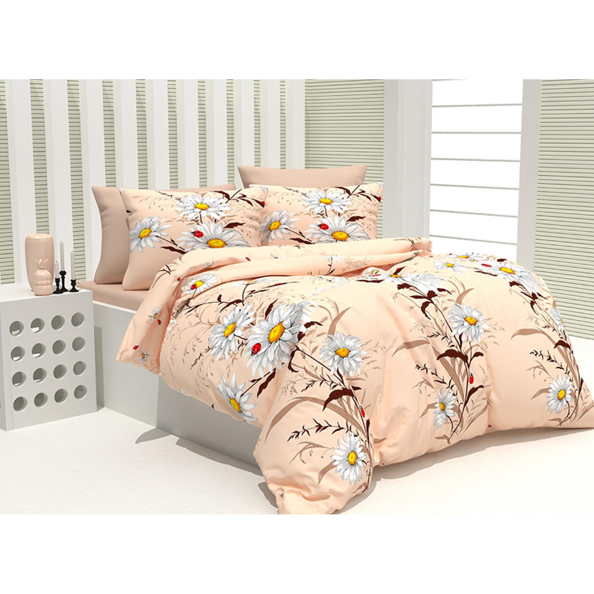 Спален комплект 100% Памук Ladybug в бежаво