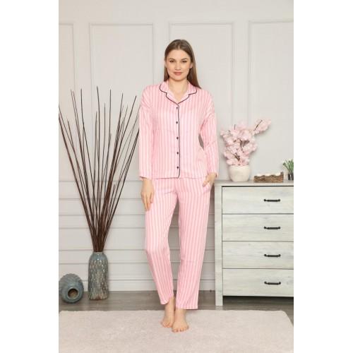 """Дамската пижама """"Charie"""" от памучен сатен"""