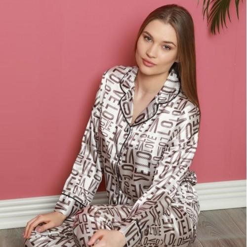 Gloss дамска луксозна пижама от сатен