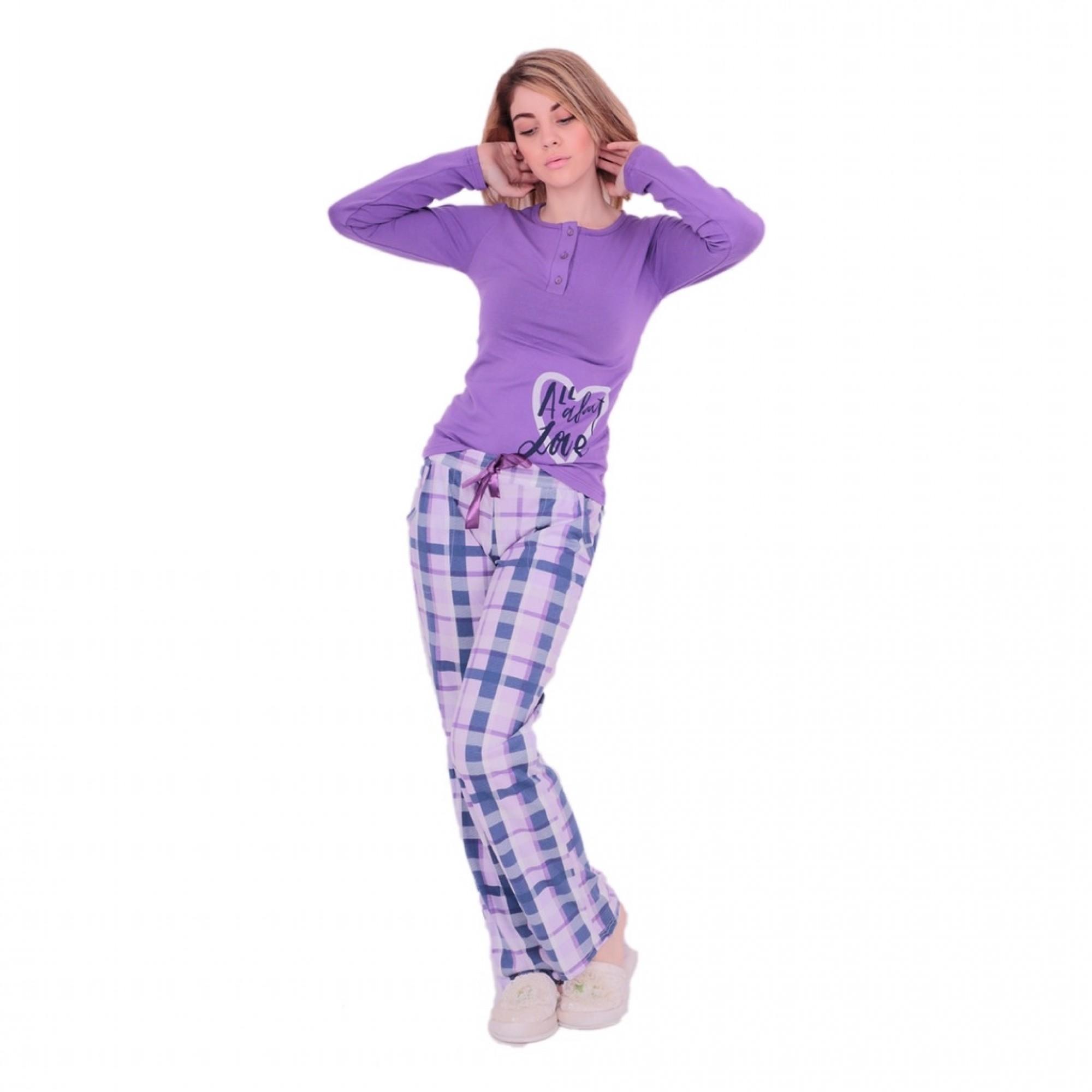 Дамска пижама от Модал Purple Love