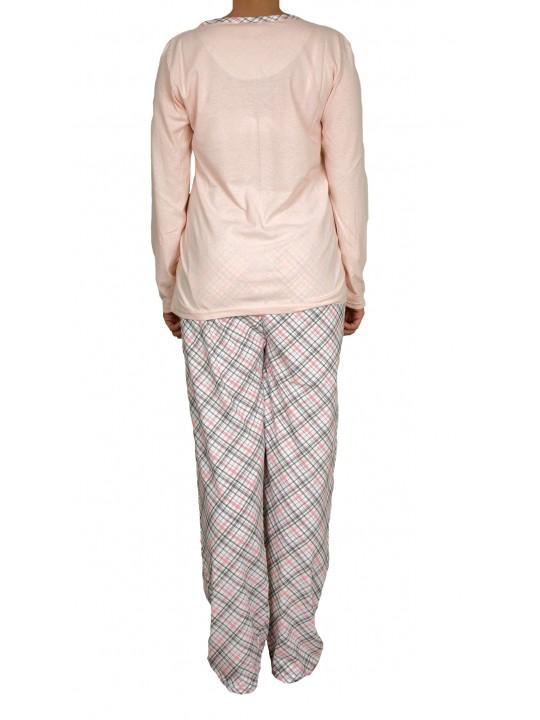Памучна дамска пижама Мече