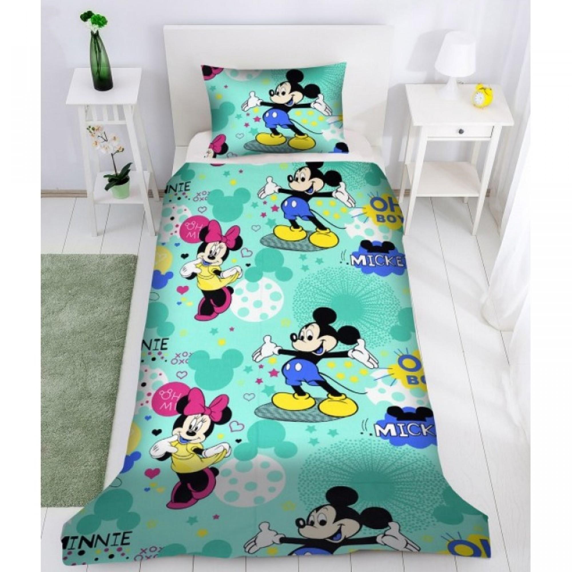 Детско спално бельо MICKEY MOUSE - Ранфорс