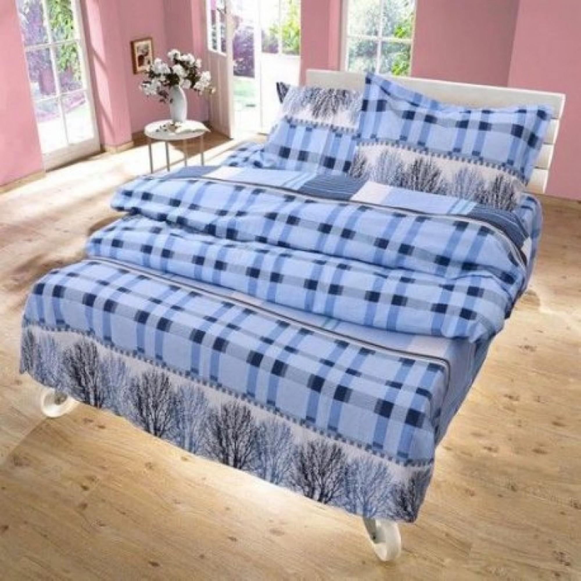 Спално бельо ГОРА синьо – 100% Памук