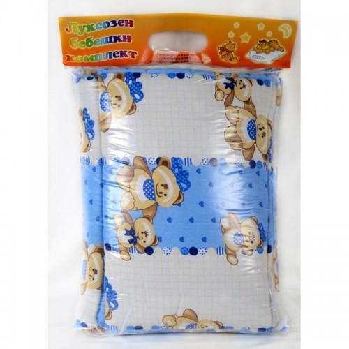 Памучен бебешки спален комплект Blue Bear