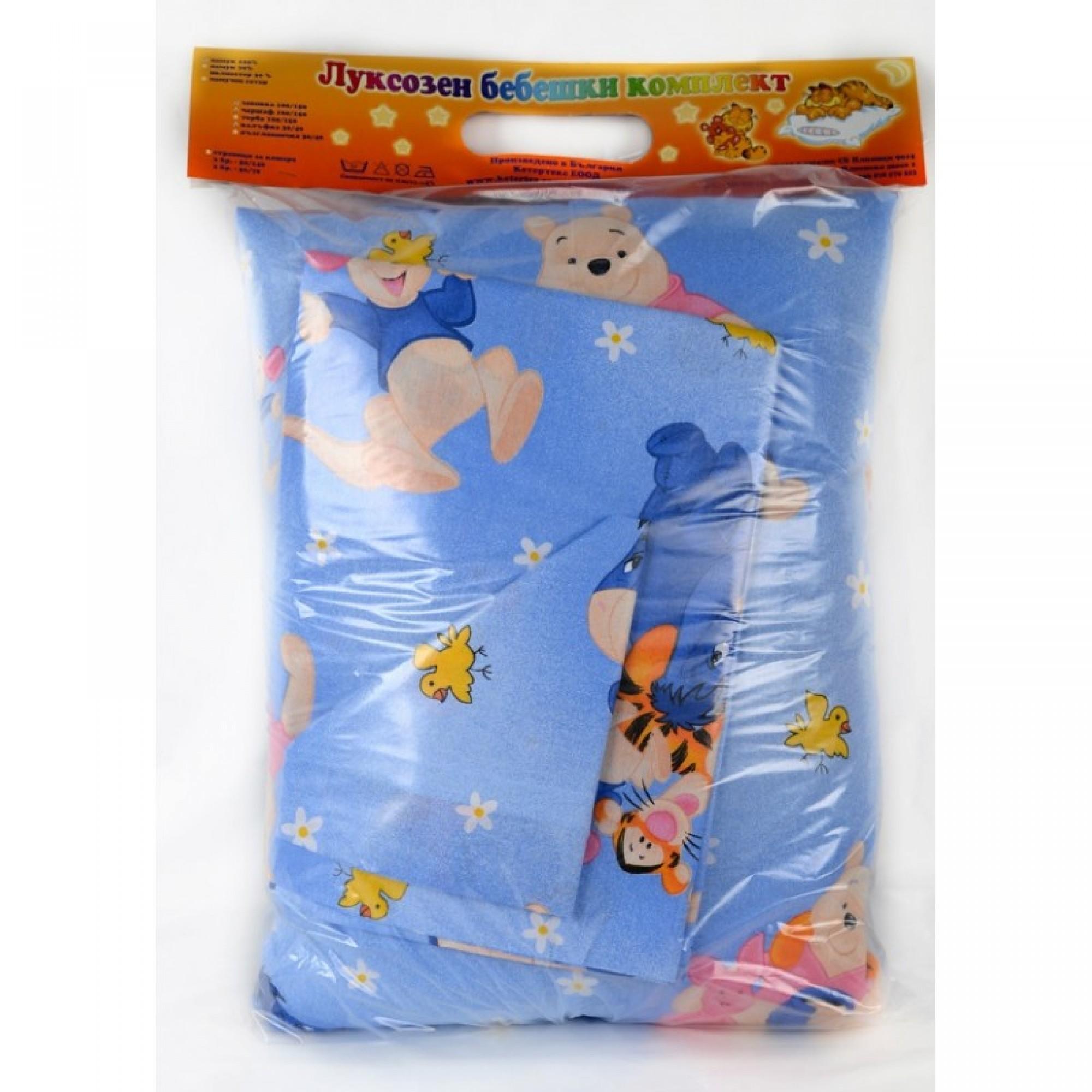 Спално комплектче за бебета CARTOONS  от 100% Памук