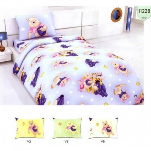Памучен спален комплект  Мечо Пух и приятели  за бебета