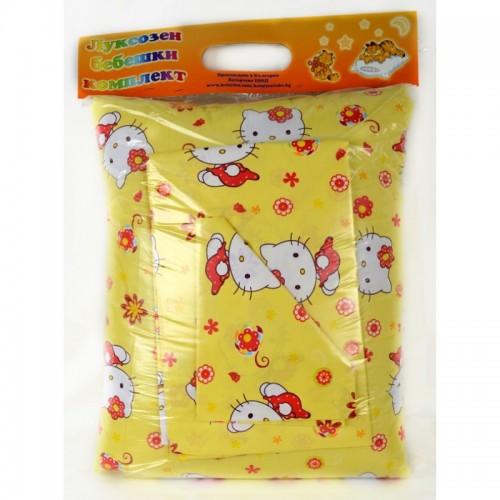 Спален комплект от Ранфорс Yellow Kitty за вашето бебе