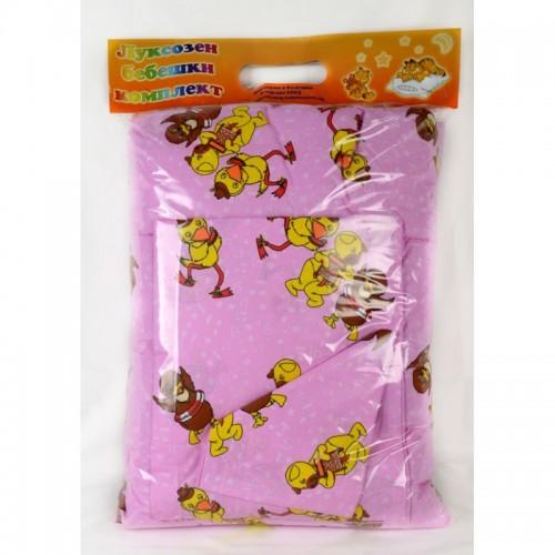 Ранфорс комплект за вашето бебе  Патета в розово