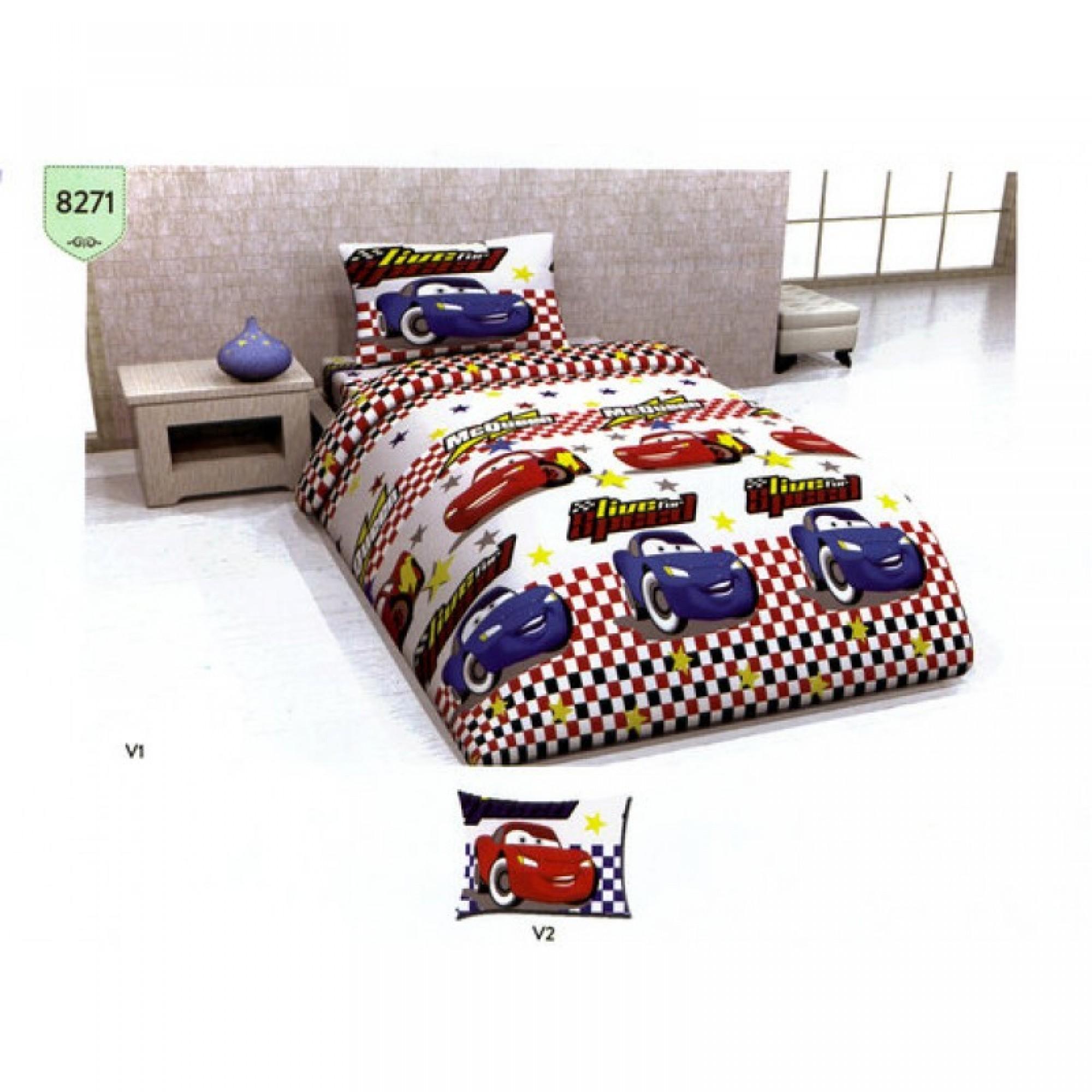 Детско спално бельо Cars - 100% Памук