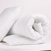 КОМПЛЕКТ: Голяма олекотена завивка и възглавница със силиконов пух