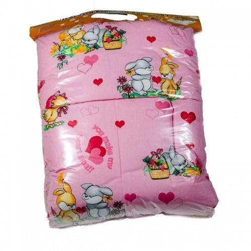 Бебешко спално бельо Ранфорс PINK BUNNY – 100% Памук