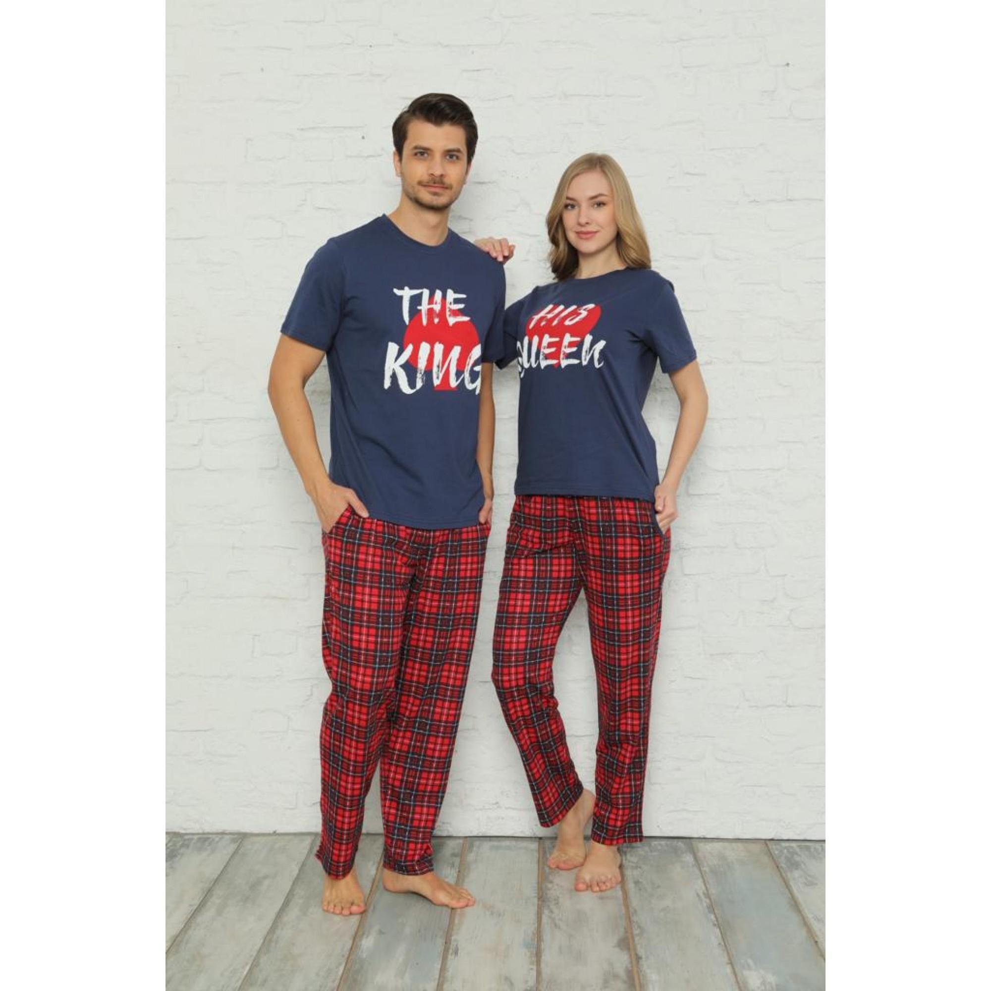 Комплект дамска и мъжка пижама King and Queen