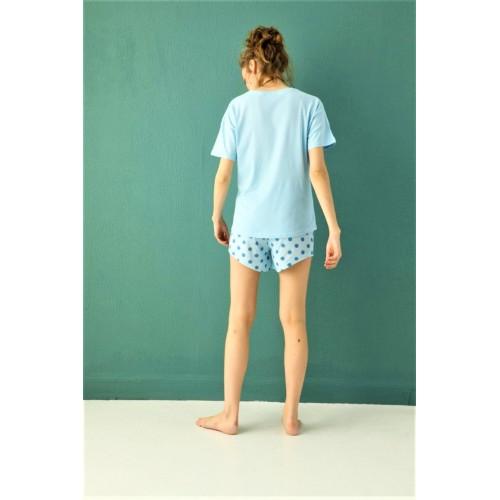 Дамска пижама Think positive от две части