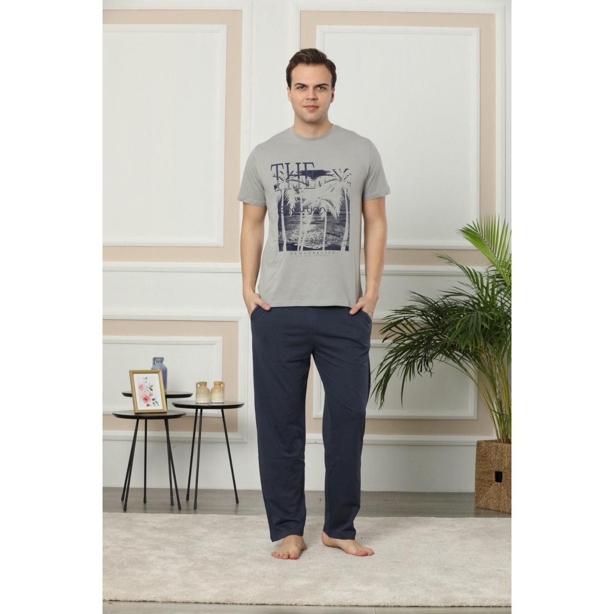 New York мъжка пижама с къс ръкав
