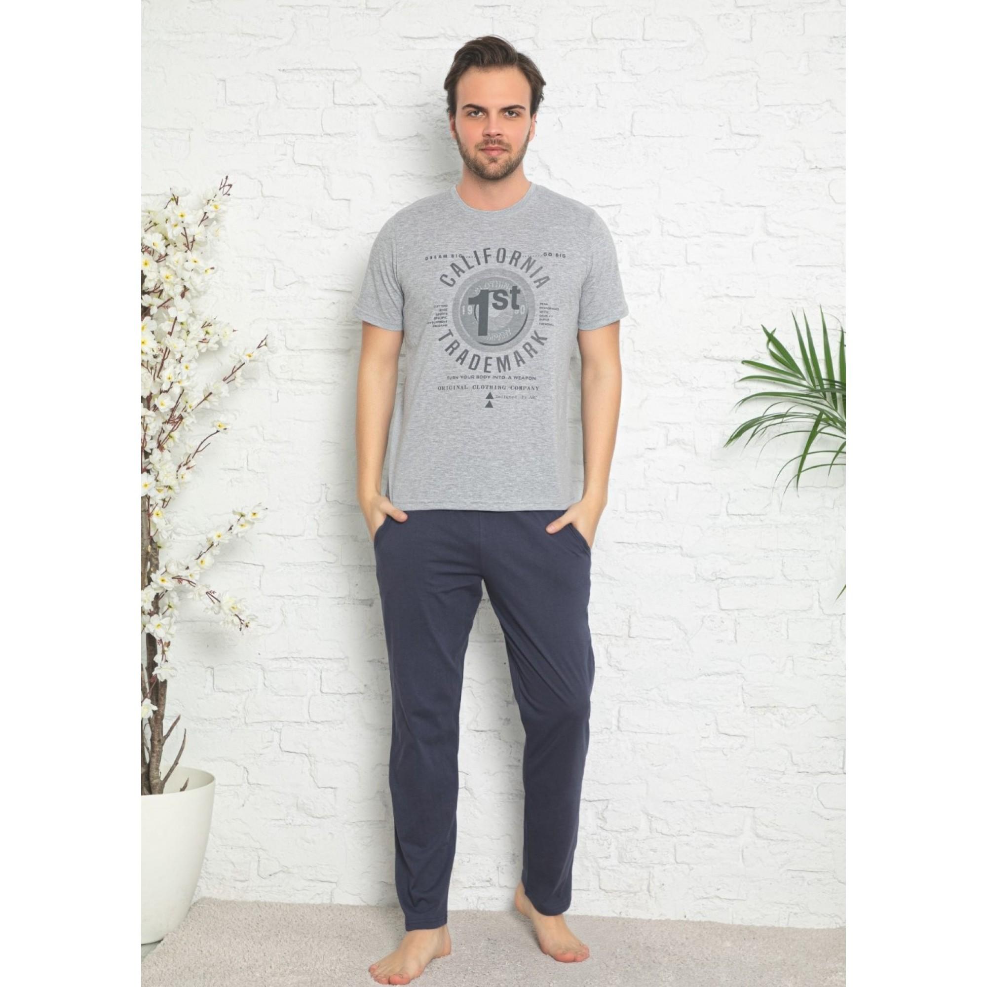 """Мъжка пижама """"Black"""" от памук"""