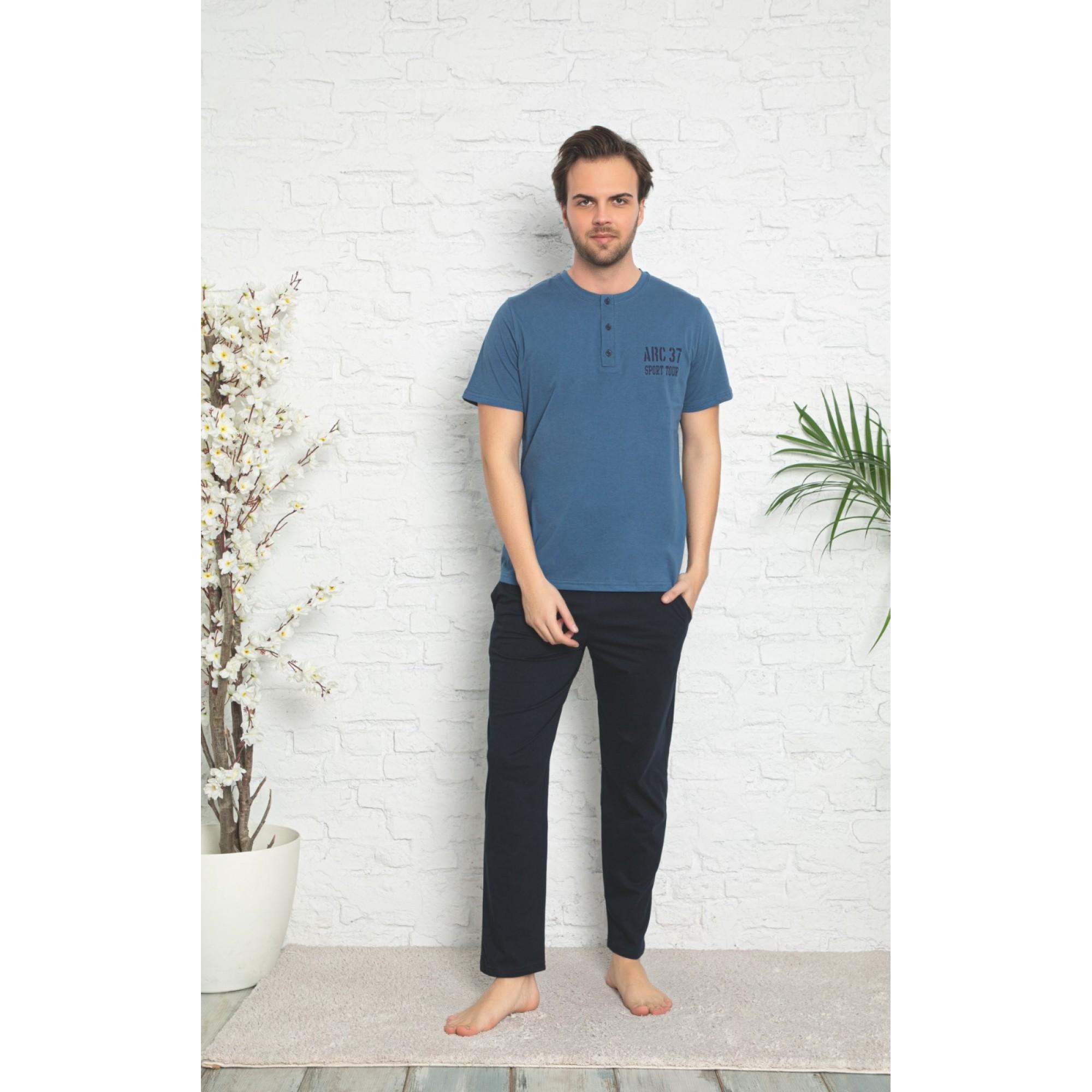 """Мъжка пижама """"Blue Sky"""" от памук"""