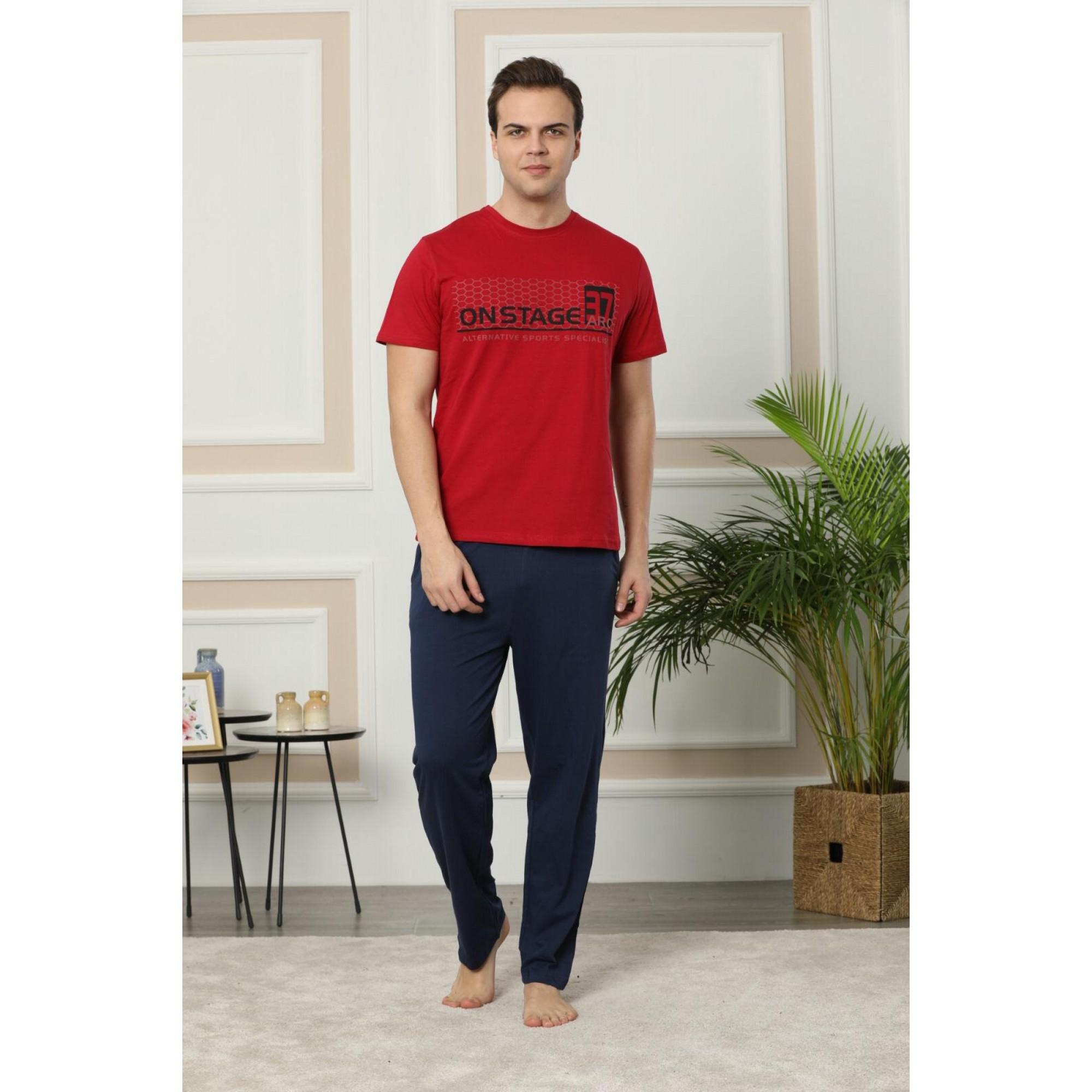 Red 37 Мъжка пижама с къс ръкав