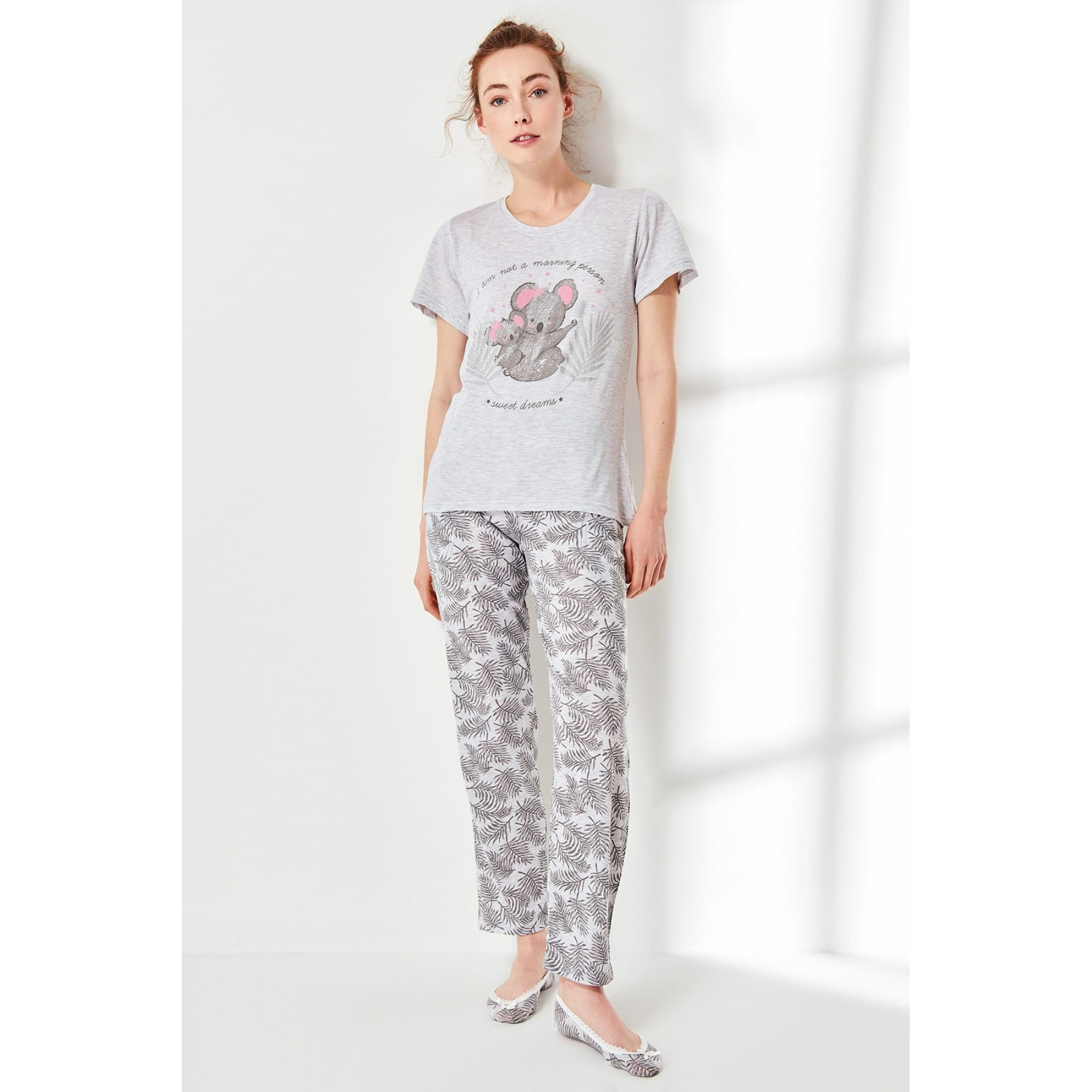 Дамска пижама Mouse с къс ръкав