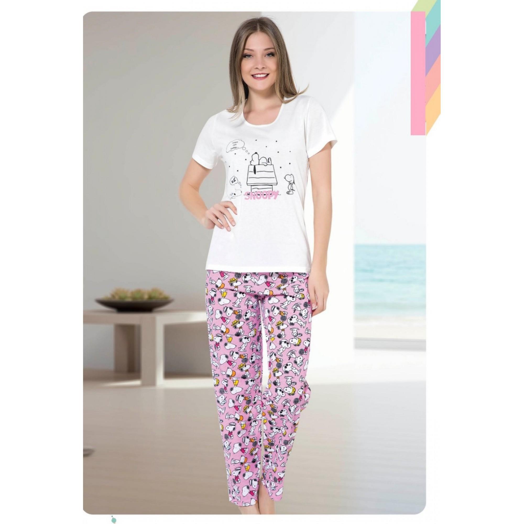 Дамска пижама с къс ръкав Sleep