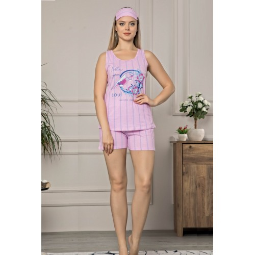 Дамска лятна пижама Ванила роуз