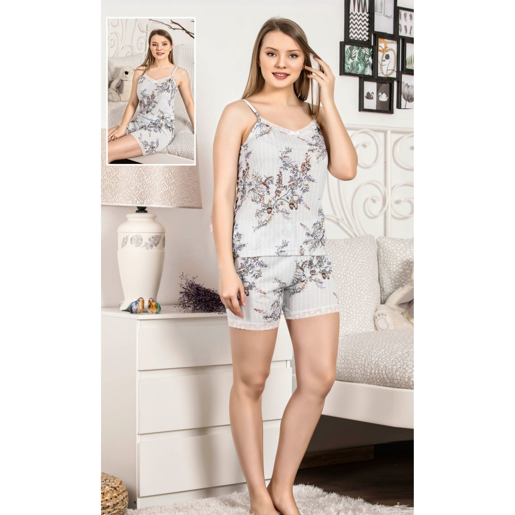 Дамска пижама Lines