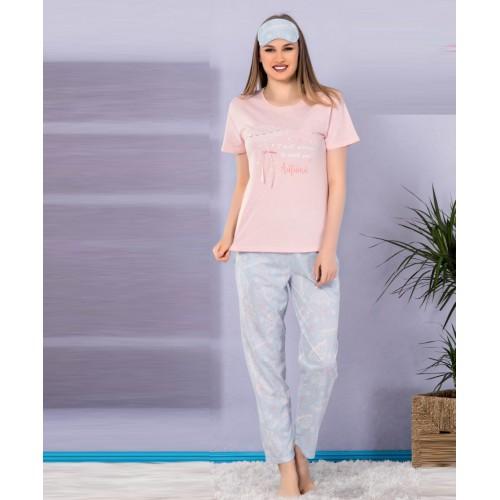 Дамска пижама с къс ръкав Касиди