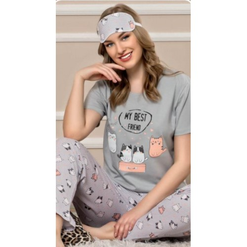 Friend дамска пижама с къс ръкав