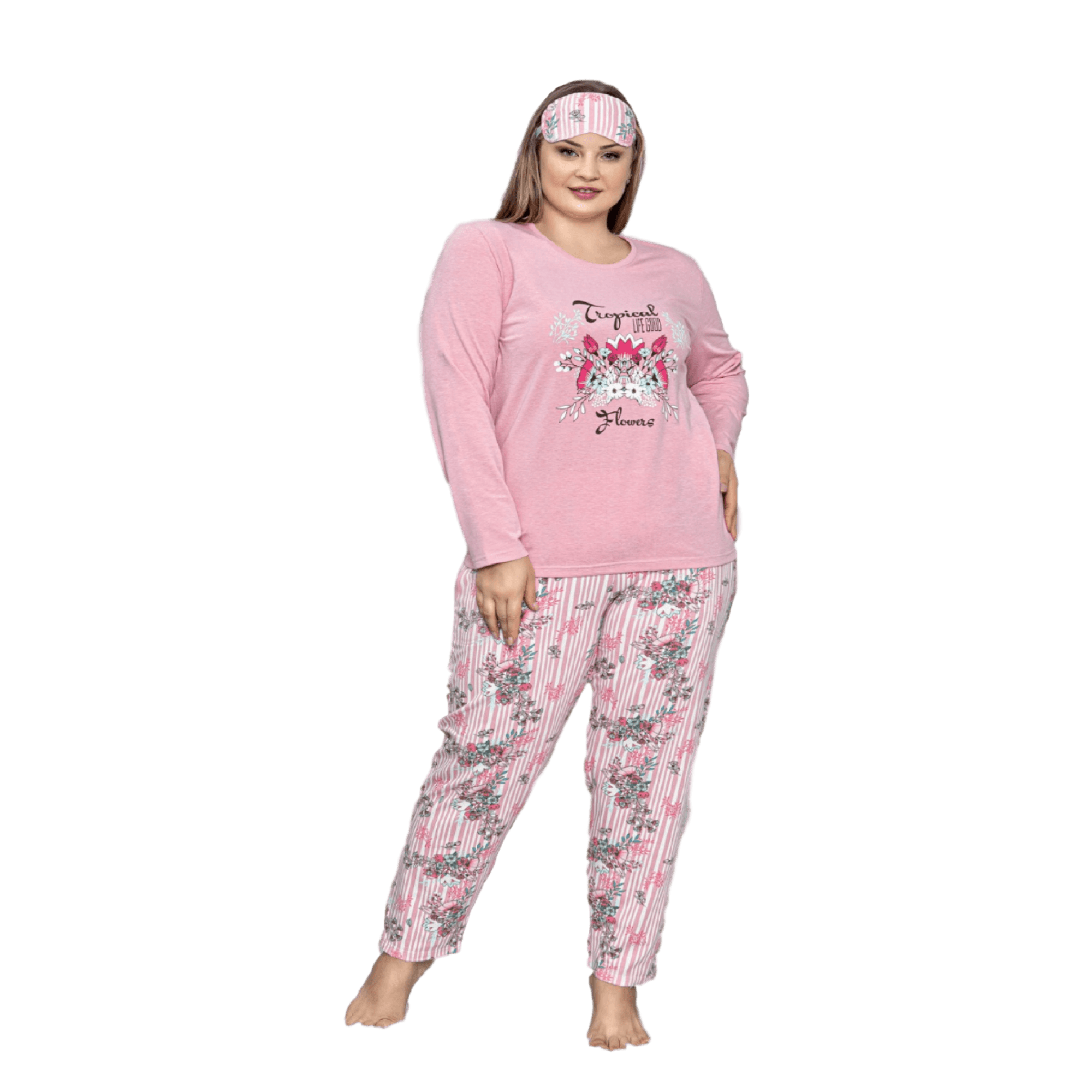 Asq дамска пижама в макси размер есен/зима