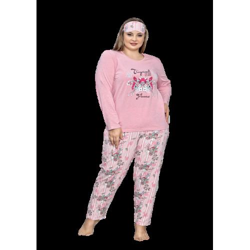 Asq дамска пижама с къс ръкав в маски размери
