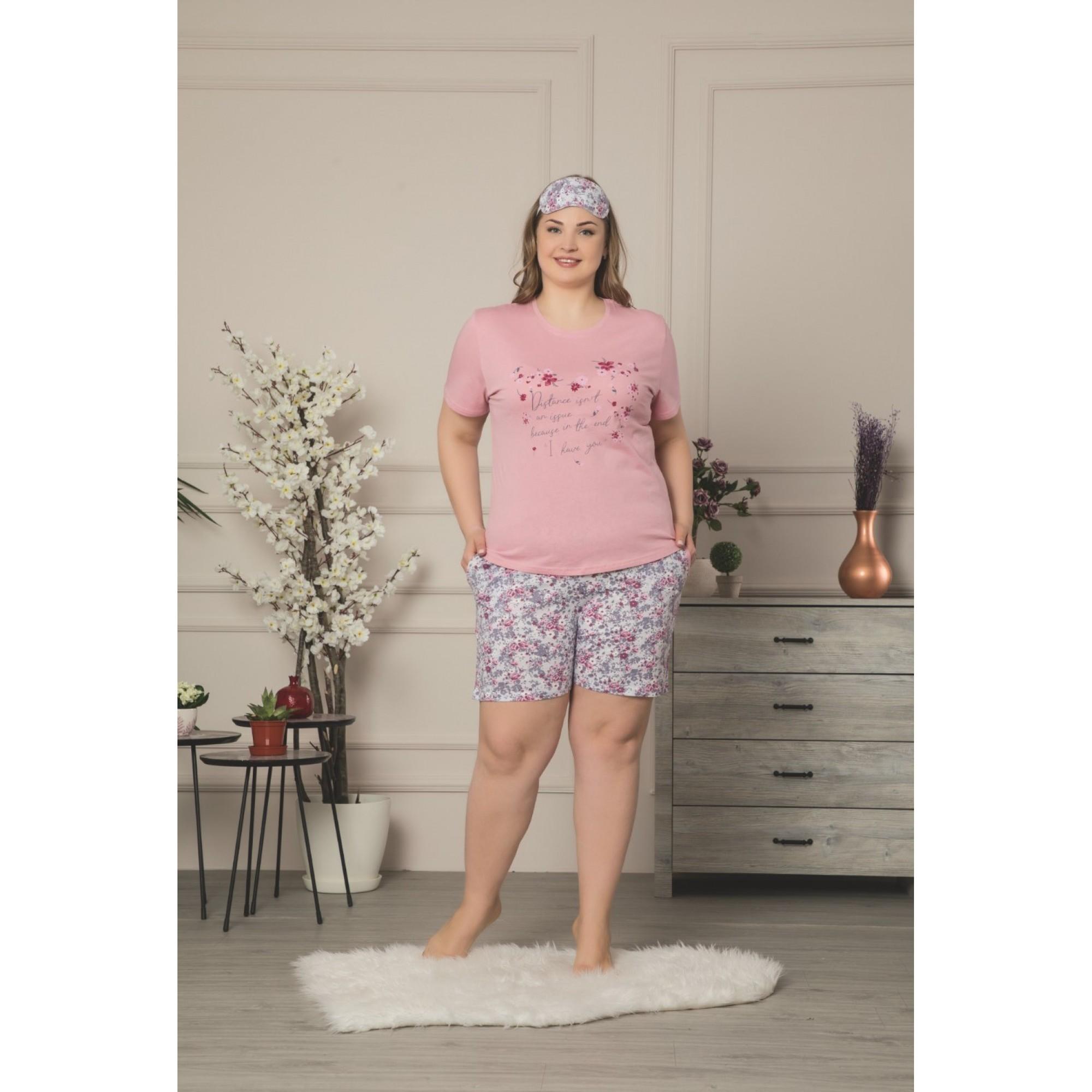 Дамска пижама в големи размери My heart