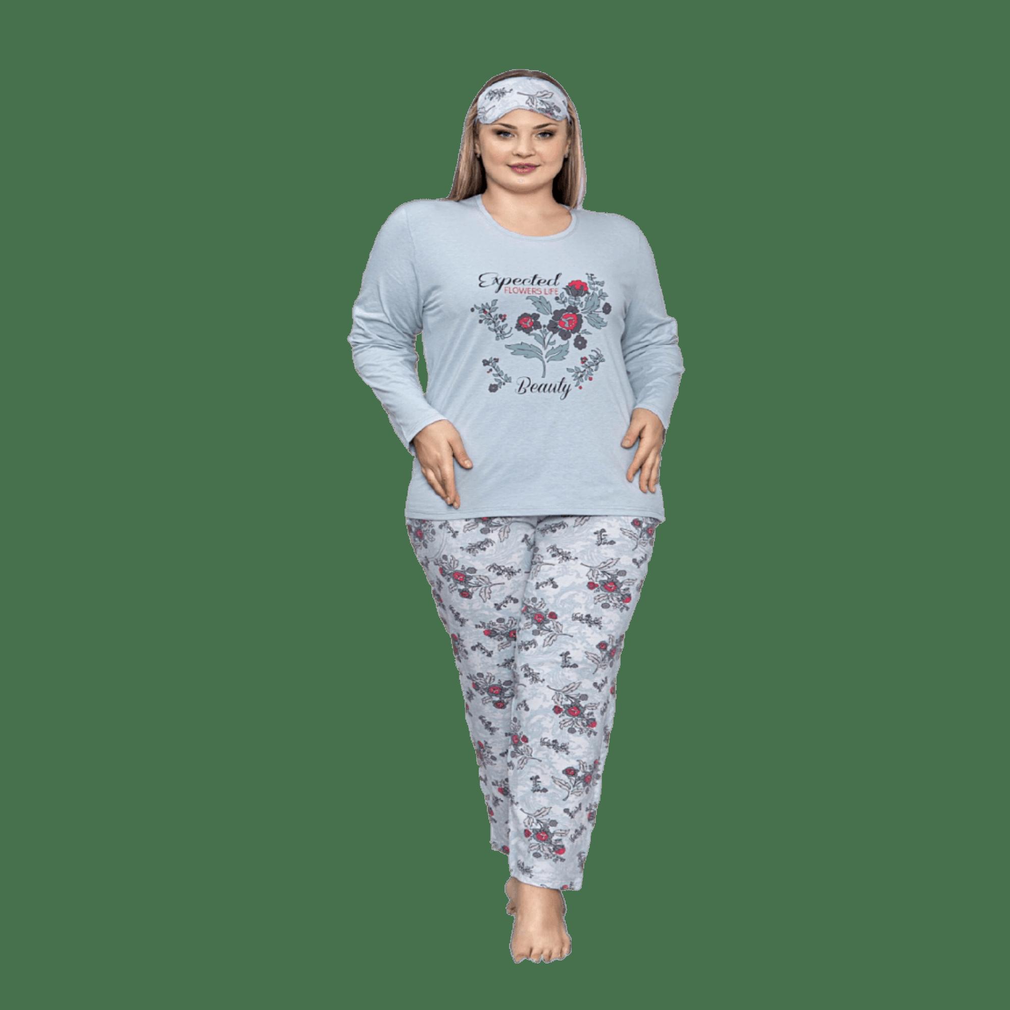 Дамска макси пижама от памук