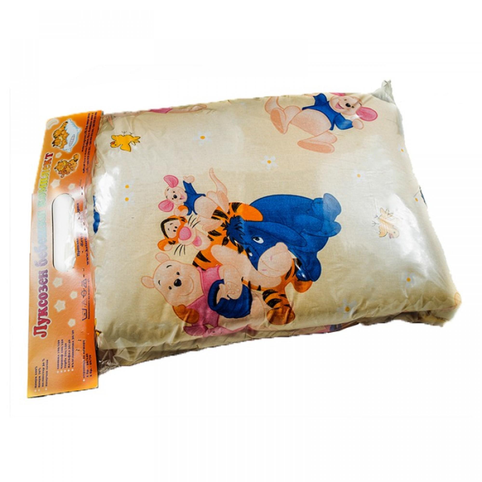 Спално бельо за бебешко легло  Мечо Пух и приятели от памук