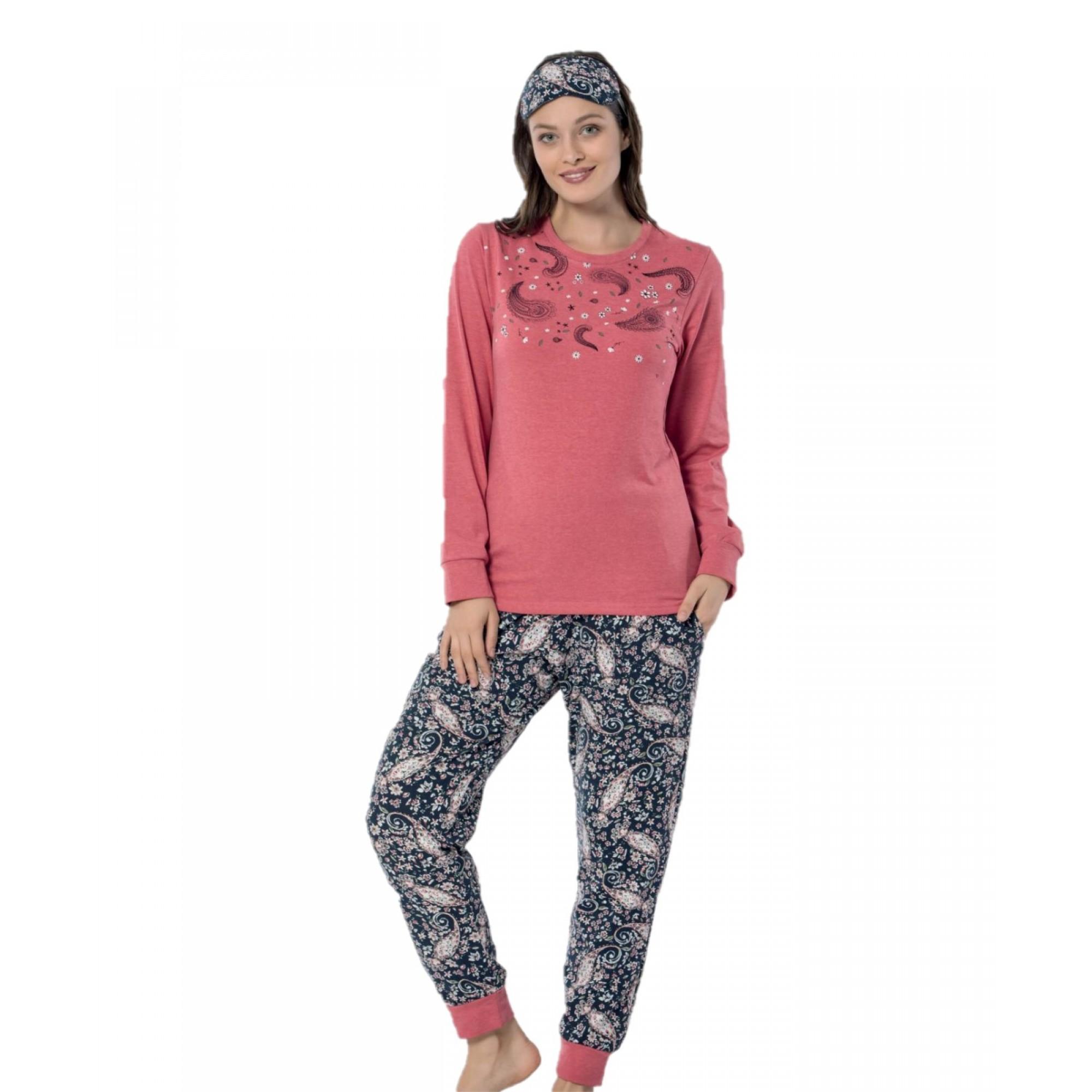 Дамска памучна пижама Орнаменти