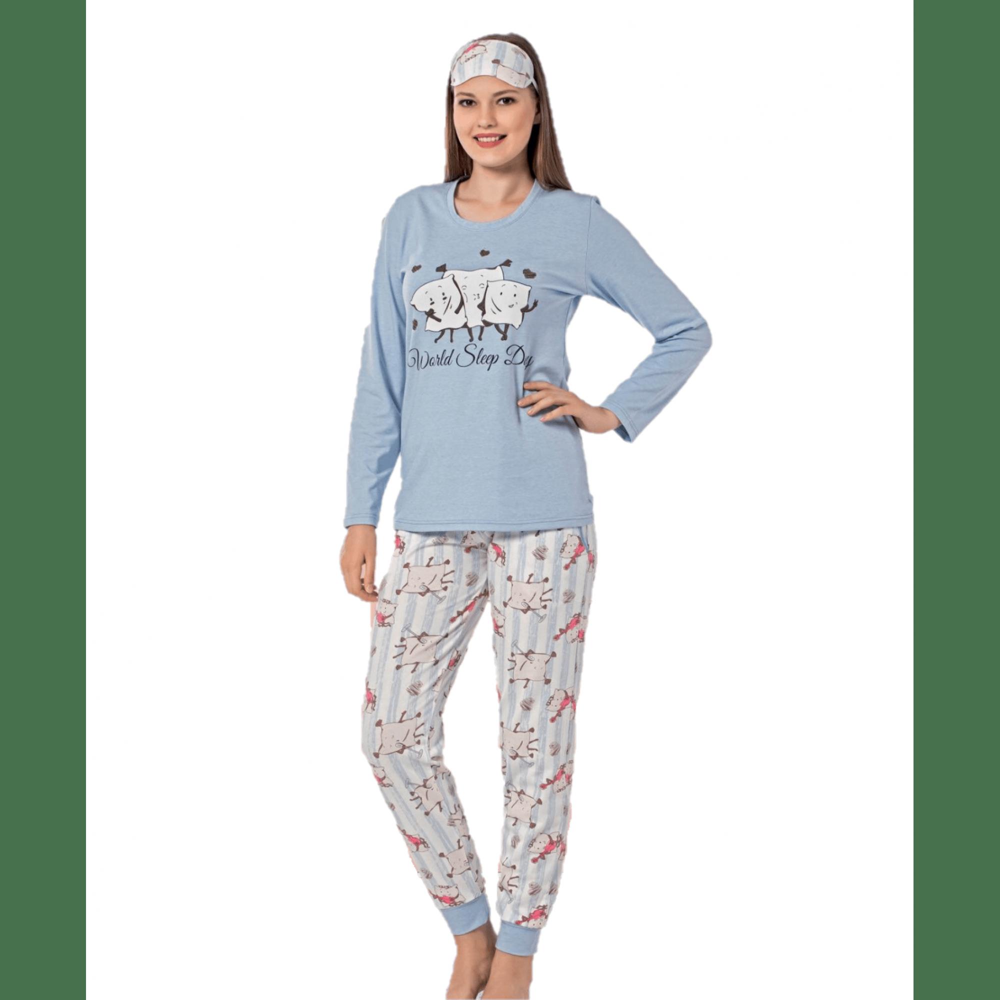 Дамска Ватирана Пижама с маншет