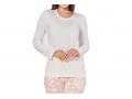 Дамска памучна пижама в прасковено