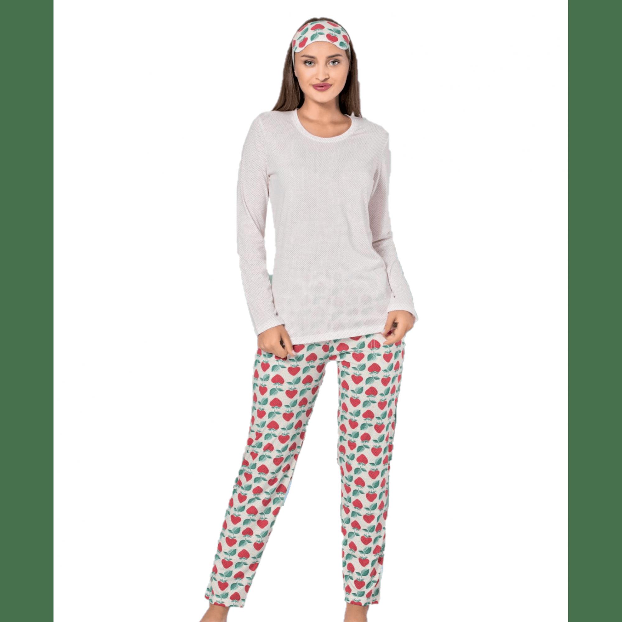 Дамска памучна пижама Ягода