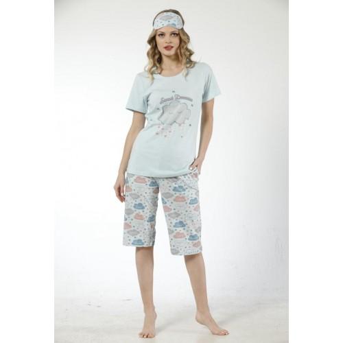 Дамска лятна пижама Sweet Dreams с 3/4 панталон