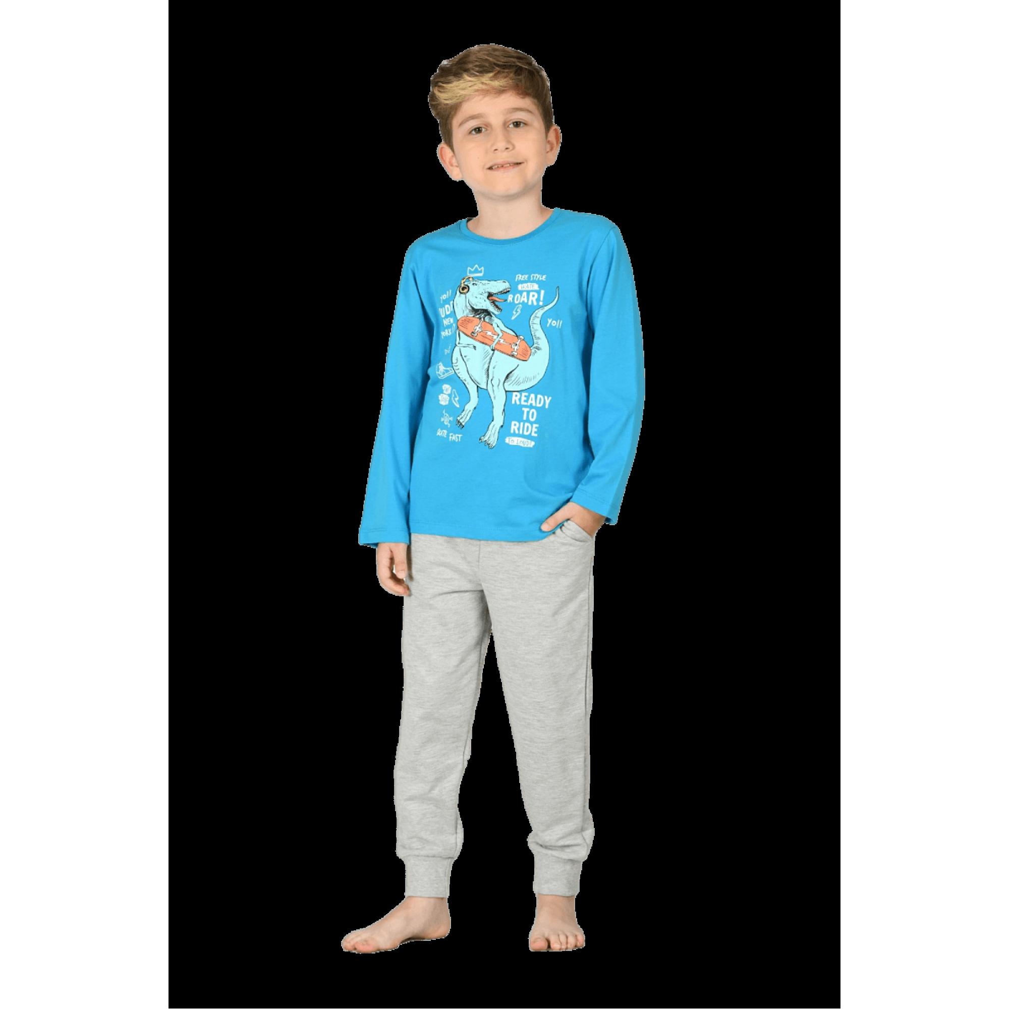 Детска памучна пижама Дино