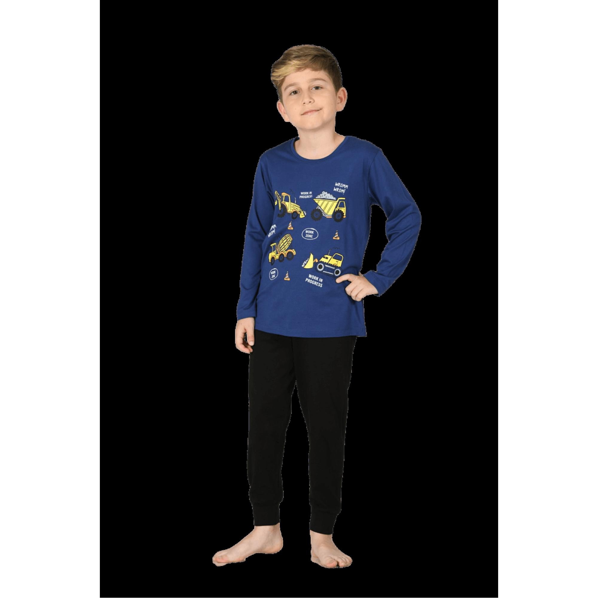 Детска памучна пижама Трактор