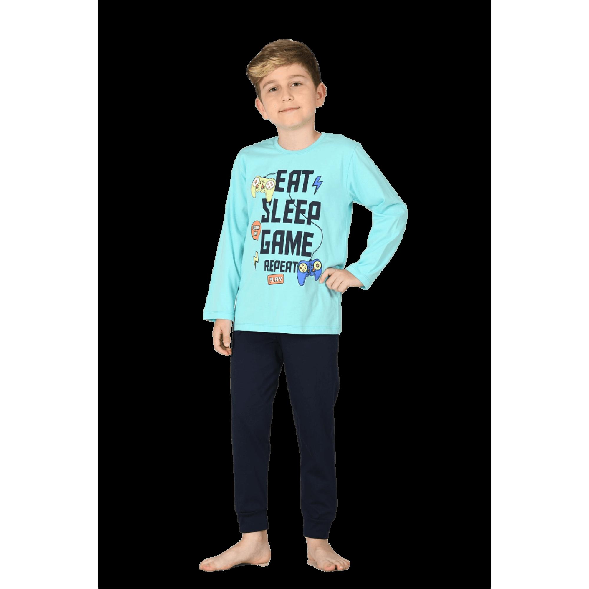 """Детска пижама за момче """"Гейм"""" от 100% памук"""