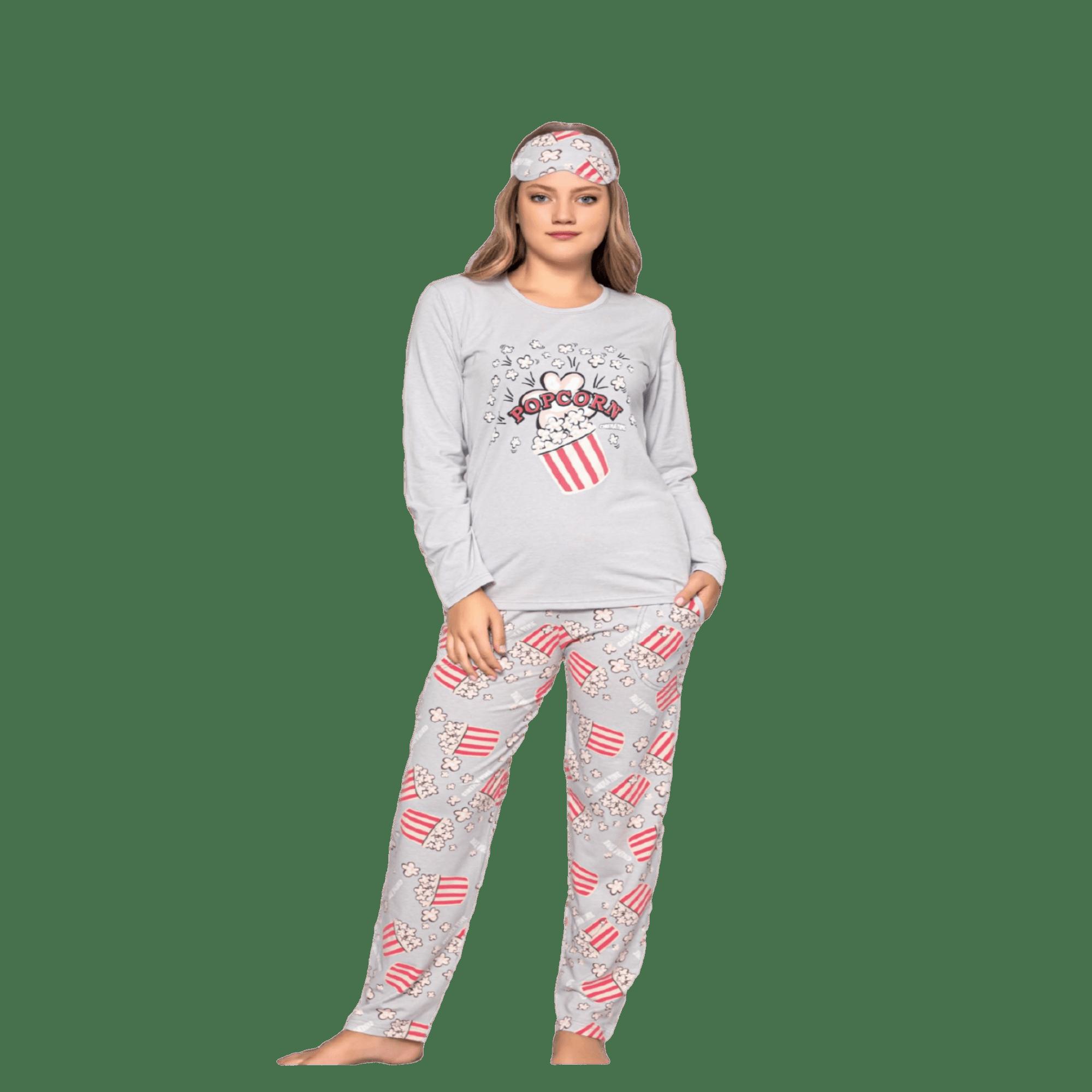 Ватирана дамска пижама Popcorn