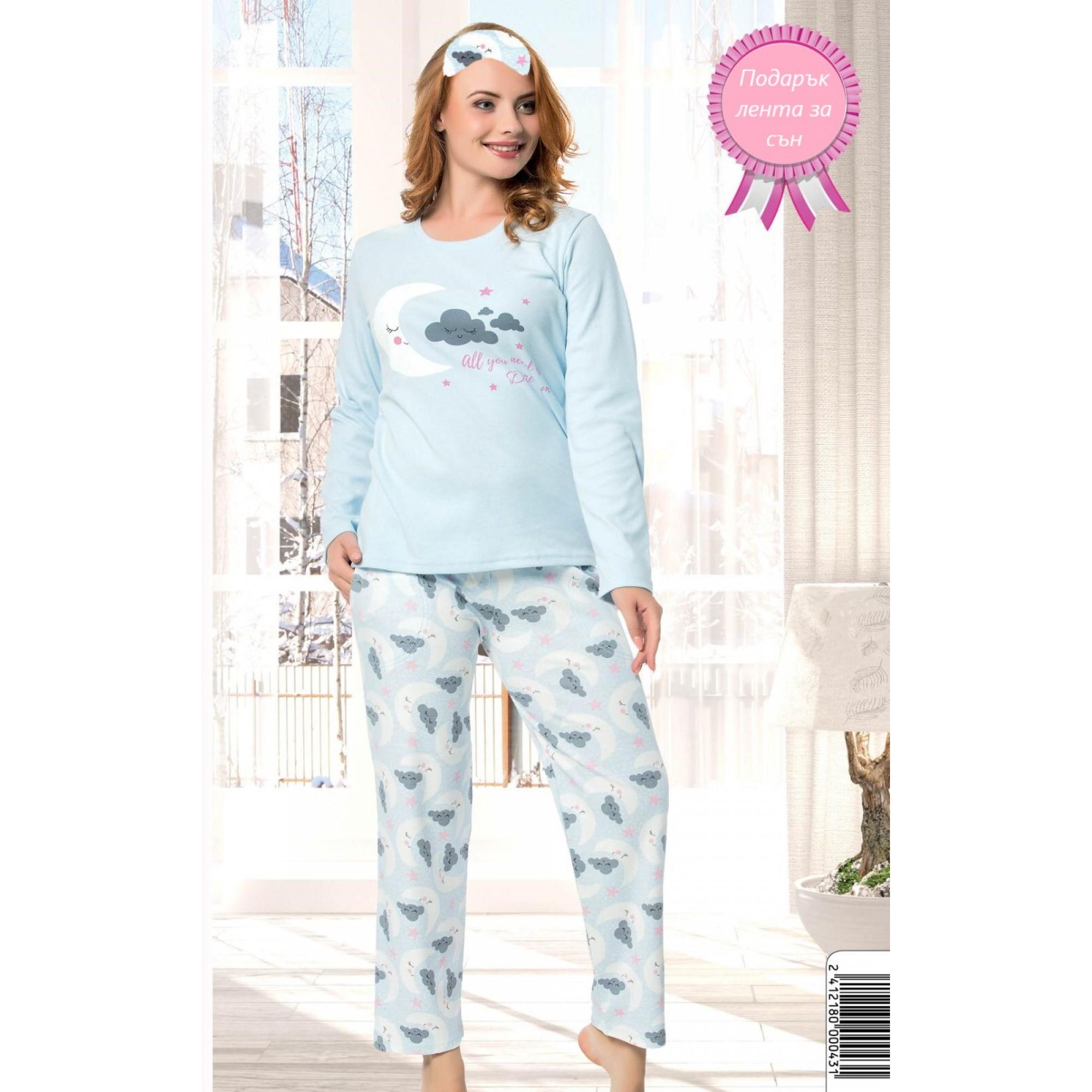 Дамска пижама интерлог Облаче