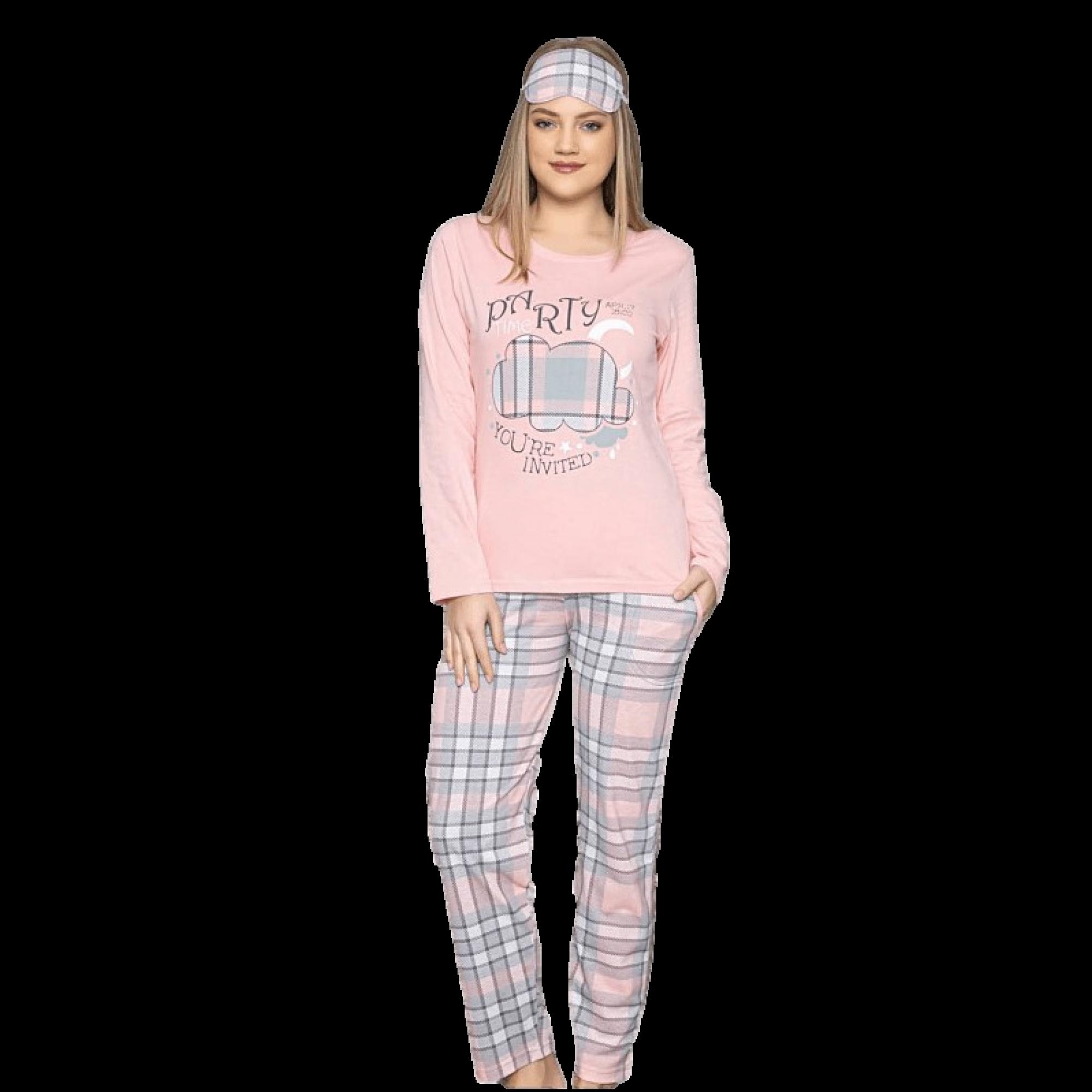 Cute дамска пижама с дълъг ръкав