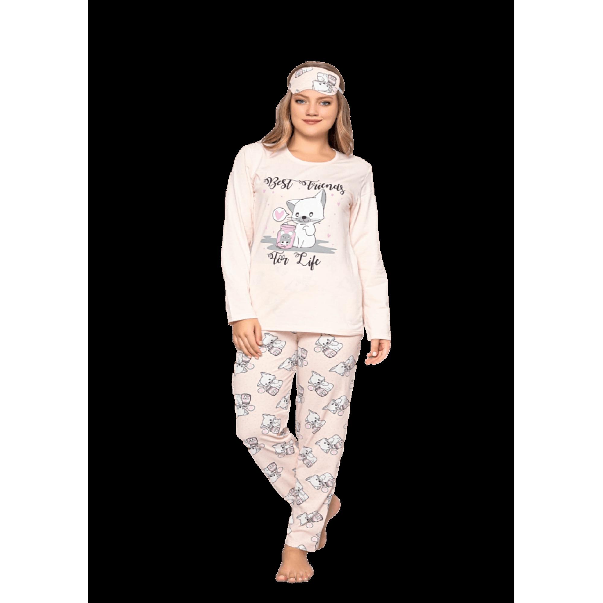 Ватирана дамска пижама For life