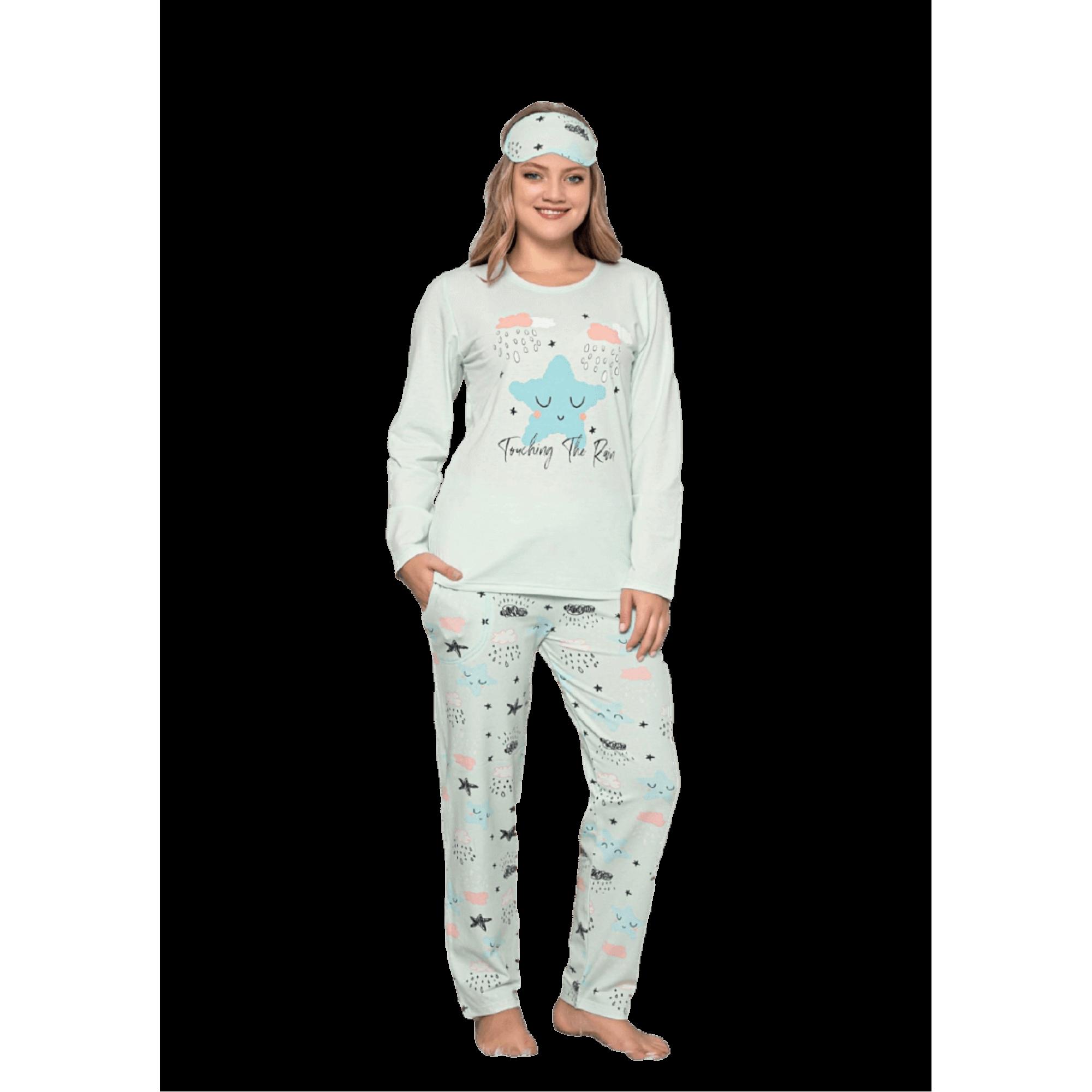 Ватирана дамска пижама Рейн