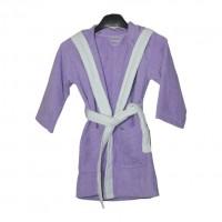 Халат с ушички за деца Purple Bunny - 100% Памук