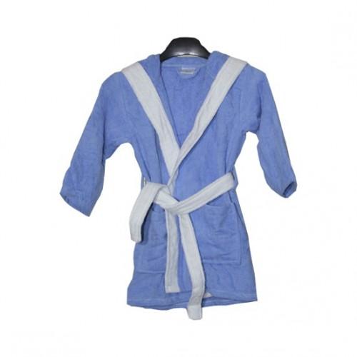 Халат за малките мъже с ушички Blue Bunny - 100% Памук