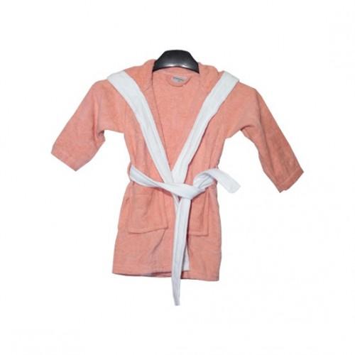 Детски халат с ушички Pink Bunny от 100% Памук