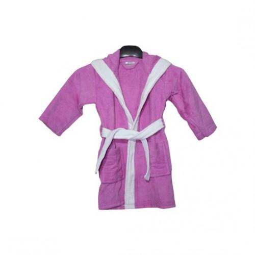 Детски халат от 100% памук с ушички Purple Bunny